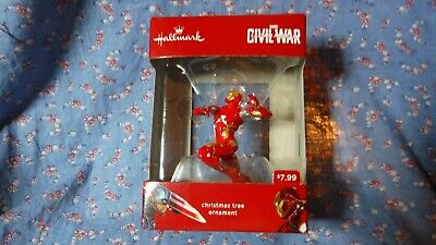 NIB Christmas Ornaments Avengers Civil War Captain America Iron Man - Avengers Christmas Ornaments