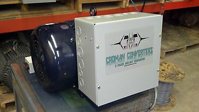 40HP 3 PHASE CNC ROTARY PHASE CONVERTER