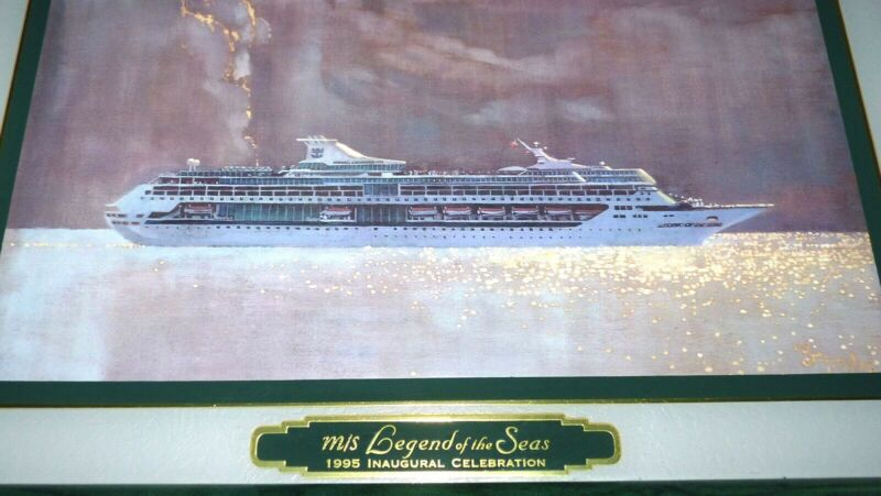 NEW Royal Caribbean Cruise Ship m/s Legend of the Sea Inaugural 1995 Vtg Print