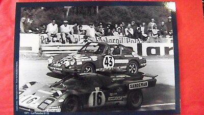 CARD LE MANS 24 HOURS / PORSCHE AU MANS :: 911 S  1971