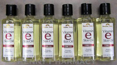Vitamin E Skin Oil 1500 I.U. 4oz Personal Care ( 6 pack ) FRESH PHARMACY STOCK!