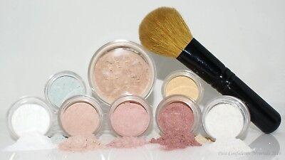 Mineral Make-up Starter Kit (8pc Starter Kit with Foundation Brush mineral makeup face bare skin organic)