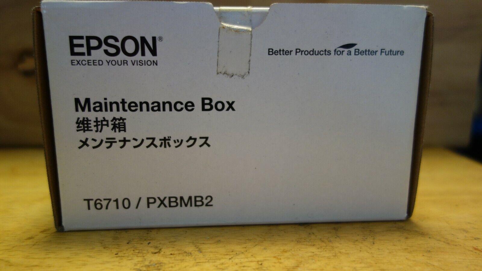 Authentic Epson Ink Maintenance Box T6710 / PXBMB2 New In Original Box  - $8.25