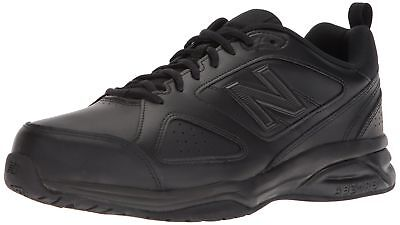 New Balance Men's Mx623v3 Training Shoe Black Leather 12 4e Us
