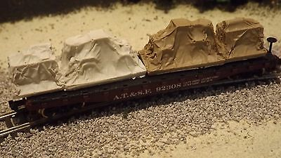 N-Scale 2 Unfinished Tarped Freight Car Loads