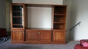 Timber Wall Unit / Book shelf / TV unit/ Entertainment Brighton East Bayside Area Preview