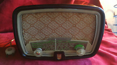 RADIO PHILIPS BF 211 U, BAQUELITA, AÑO 1951, EN FUNCIONAMIENTO,  FOTOS Y VIDEO segunda mano  Teruel