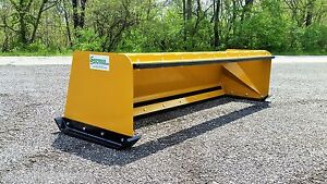 7' Low Pro snow pusher box with pullback bar FREE SHIPPING skid steer bobcat