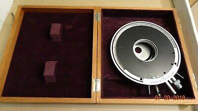 Leitz Wetzlar 1520 Circular Microscope Stage 130mm Dia. Mount Adapters Vacuum