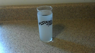 Sound of Music by The Upstairs Dinner Theatre Frosted Souvenir Glass VGUC