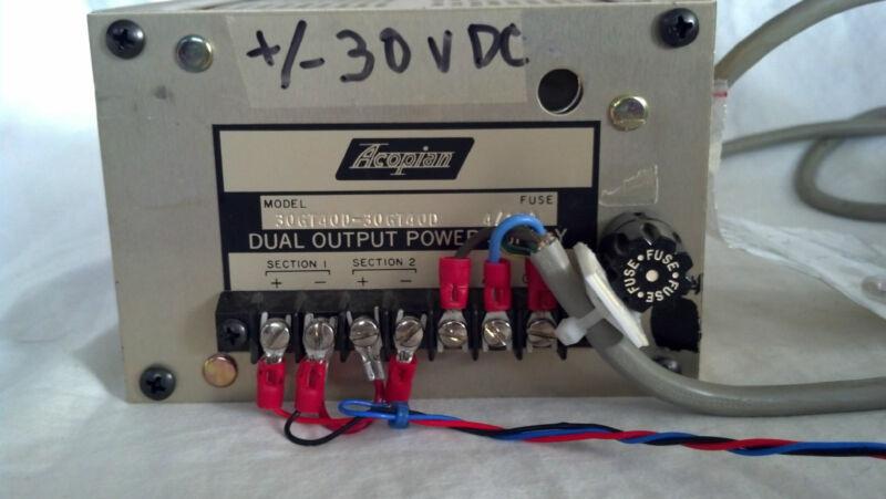 ACOPIAN DUAL OUTPUT POWER SUPPLY 30GT40D