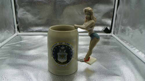 department of the air force mug with sexy girl hanging on