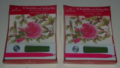 2 New Boxes Hallmark Postaletter and Sealing Wax & Seal