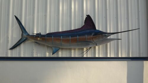 """116"""" Striped Marlin Two Sided Fish Mount Replica - 10 Business Day Production"""