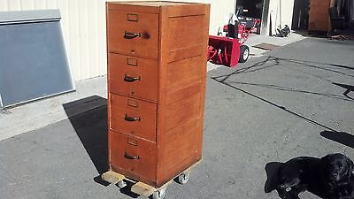 Vintage Globe-wernicke File Cabinet 4 Drawer Legal Oak We Deliver Locally Norca