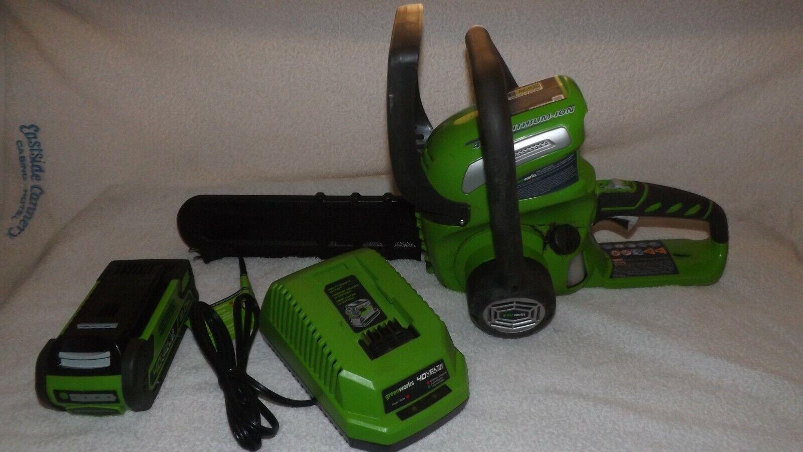 20262 12 inch 40v cordless chainsaw green