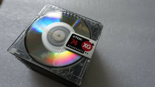 Lot of 10 Recordable TDK Digital Audio MiniDisc MD 74 Mini Disc TDK JAPAN W/Case