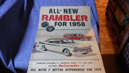 8 Page Adv All-New Rambler for 1958  Illustrated in Color  Great Graphics
