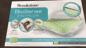 Brookstone® BioSense™ Memory Foam Classic Pillow with Cover