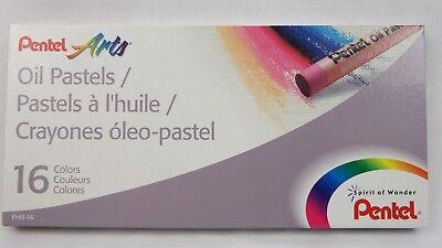 Pentel Arts Oil Pastels, Set of 6 packs, 16 Colors Each Pack