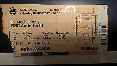 TICKET : KV MECHELEN - RSC ANDERLECHT 04-03-2017