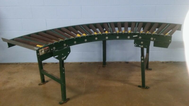 Used Extra Heavy Duty  Steel Roller Conveyor Curved Section