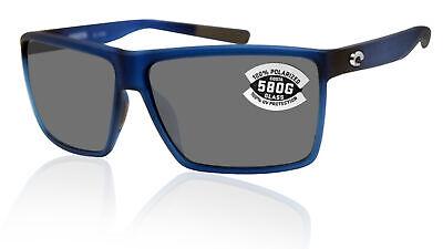 Costa Del Mar Rincon Matte Atlantic Blue Frame Gray 580G Glass Polarized (Costa Del Mar Glass Lenses)