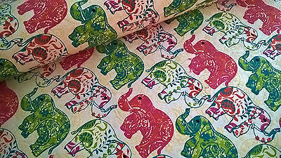 Indian Handmade Paper ~ Elephants ~ Large Sheet 76 x 53cm ~ Wrapping Paper, Art