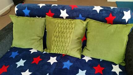 January  298#   Three Green Cushions  $6