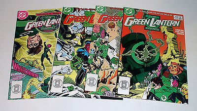 GREEN LANTERN 221 222 223 224  LAST FOUR ISSUE OF TITLE 1988