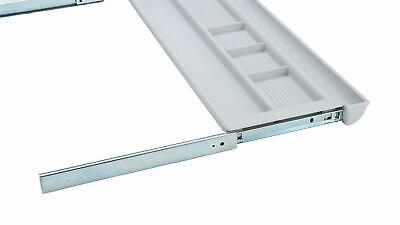 Mind Reader Ergonomic Adjustable Under Desk Keyboard Organizer Tray White