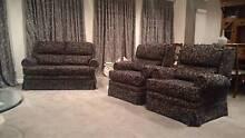 Lounge Chairs - 3 x 2 Seater + 2 x 1 Seater - Hardwood Frames Richmond Hawkesbury Area Preview