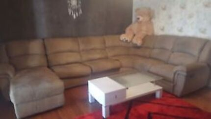 Large Lounge with Sofa bed  and Recliner (Can Delivery)