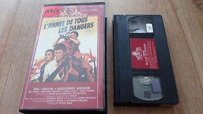K7 Cassette Vidéo Vintage VHS - L'ANNEE DE TOUS LES DANGERS Mel Gibson