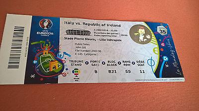 TICKET EURO 2016 : ITALIE - IRLANDE MATCH 35