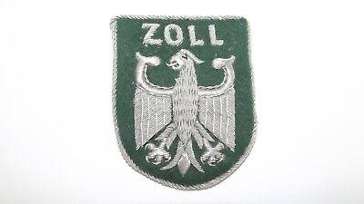 Früher Behörden Aufnäher Patches Badges Bouillon Stickerei Silber ZOLL