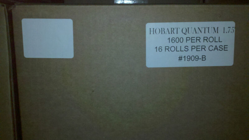 """HOBART QUANTUM 1.75"""" BLANK SCALE LABELS - FREE SHIPPING!!!!    BEST PRICE 1909B"""