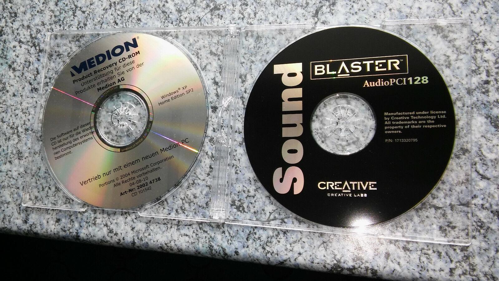 Cd Rom Medion Recovery Disk mit soundblaster Treiber win98