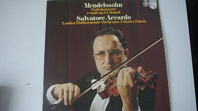Mendelssohn : Violinkonzerte op.64 - Salvatore Accardo / Charles Dutoit  - LP