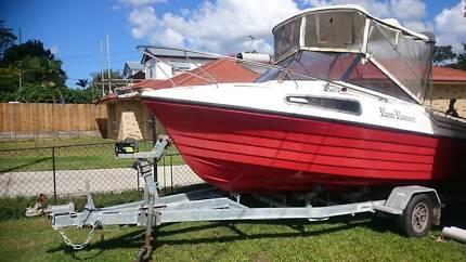 16ft half cabin cox craft