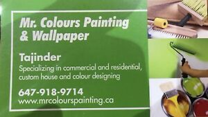 ⭐️ Mr.Colours painting&Wallpapers,,647 918 9714