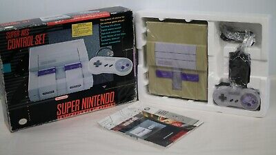 Super Nintendo SNES Control Set System Console NEW In OPEN BOX - No RF Switch