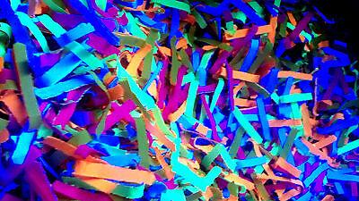 BLACKLIGHT CONFETTI - Multicolor - Bright - Glow - Neon UV - Party - Rave - Plur