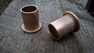 Qty 2pc, Bronze Flanged Bushing,Oilite, SF-2024-14, 5/8