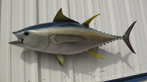 """48"""" Yellowfin Tuna Two Sided Fish Mount Replica - 10 Business Day Production"""