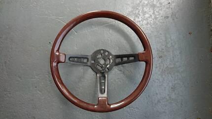 Woodgrain Steering Wheel