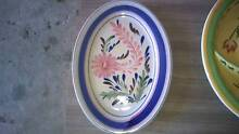 oval serving dish with blue and flowers decoration Miranda Sutherland Area Preview