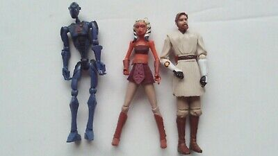 Star Wars The Clone Wars Clone £ Figures including Ahsoka Tano