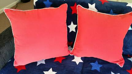 January 299#  Two Red Cushions $6