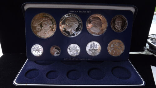 1976 JAMAICA ISLANDS PROOF SET COMPLETE WITH PAPERS AND COA!!!!